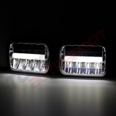 1987 Dodge Ramcharger DRL LED Seal Beam Headlight Conversion
