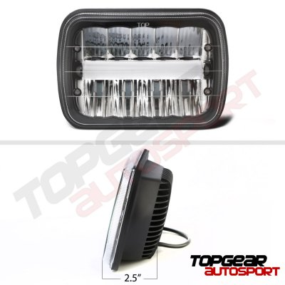 1981 Buick Century Black DRL LED Seal Beam Headlight Conversion
