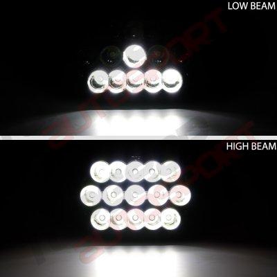 Dodge Ram 250 1981-1993 Black Full LED Seal Beam Headlight Conversion