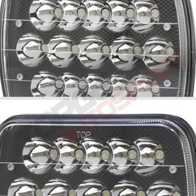1989 Dodge Ram Van Black Full LED Seal Beam Headlight Conversion