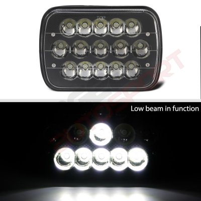 1987 Dodge Ramcharger Black Full LED Seal Beam Headlight Conversion