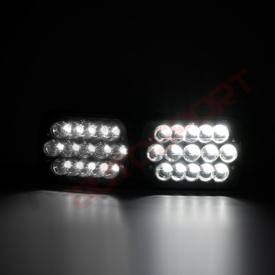 1994 GMC Safari Black Full LED Seal Beam Headlight Conversion