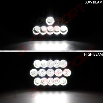 Nissan 300ZX 1984-1986 Black Full LED Seal Beam Headlight Conversion