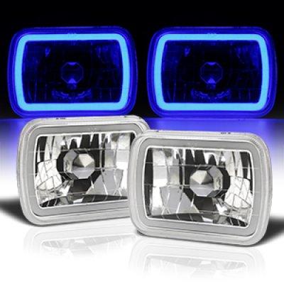 Dodge Aries 1981-1989 Blue Halo Tube Sealed Beam Headlight Conversion