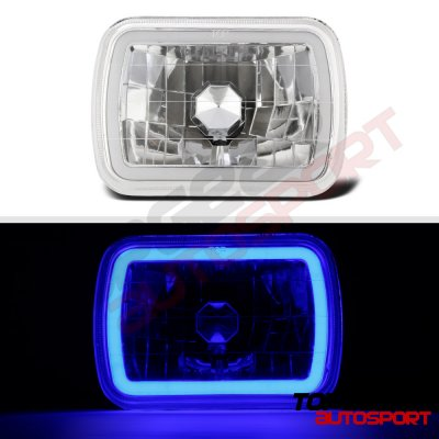 1987 Dodge Ramcharger Blue Halo Tube Sealed Beam Headlight Conversion