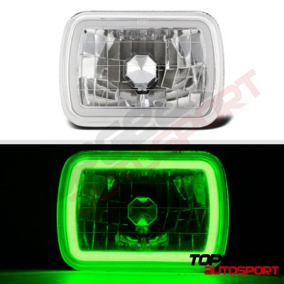1985 Chevy Astro Green Halo Tube Sealed Beam Headlight Conversion