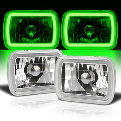 Jeep Wrangler 1987-1995 Green Halo Tube Sealed Beam Headlight Conversion