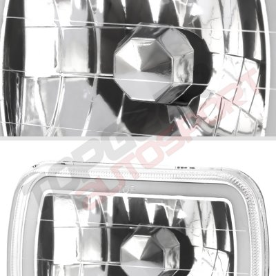 Chevy Tahoe 1995-1999 Red Halo Tube Sealed Beam Headlight Conversion