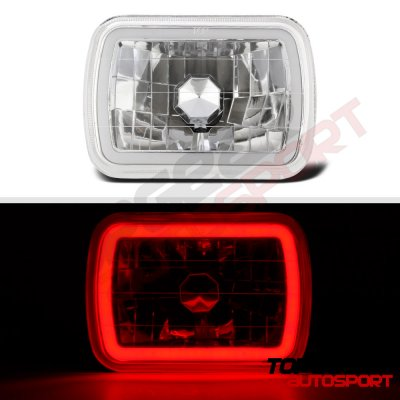 1986 Hyundai Excel Red Halo Tube Sealed Beam Headlight Conversion