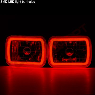 Pontiac Firebird 1982-1990 Red Halo Tube Sealed Beam Headlight Conversion