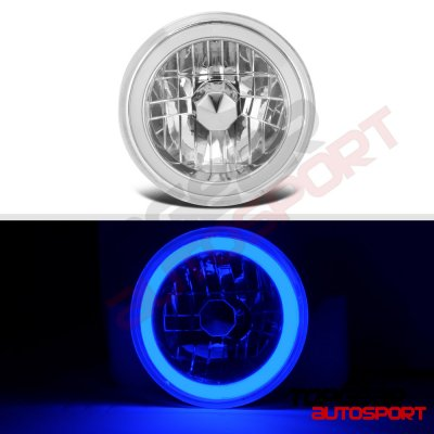 Plymouth Duster 1972-1976 Blue Halo Tube Sealed Beam Headlight Conversion