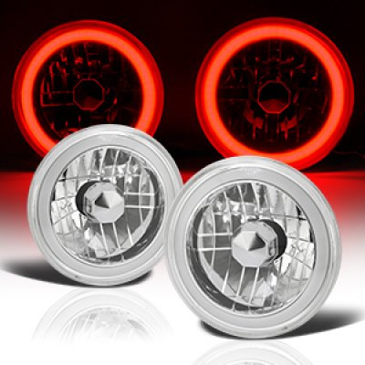 1976 Chevy Blazer Red Halo Tube Sealed Beam Headlight Conversion