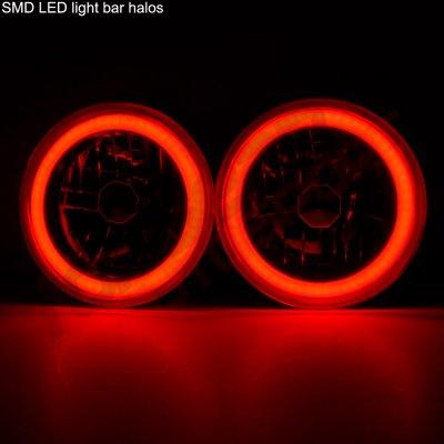 Chevy Blazer 1969-1979 Red Halo Tube Sealed Beam Headlight Conversion