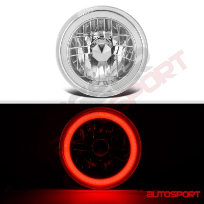 Chevy Suburban 1974-1980 Red Halo Tube Sealed Beam Headlight Conversion