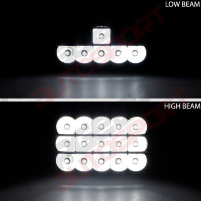 Chevy El Camino 1982-1987 Black Full LED Seal Beam Headlight Conversion