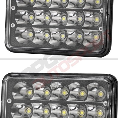 Chevy El Camino 1982-1987 Black Full LED Seal Beam Headlight Conversion Low and High Beams