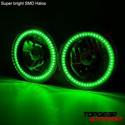 2006 Jeep Wrangler Green SMD LED Sealed Beam Headlight Conversion