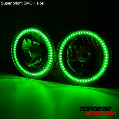 1980 Porsche 911 Green SMD LED Sealed Beam Headlight Conversion