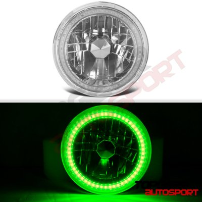 1974 Dodge Dart Green SMD LED Sealed Beam Headlight Conversion