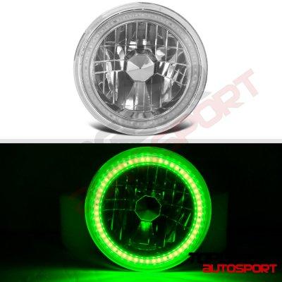 1976 Dodge Pickup Truck Green SMD LED Sealed Beam Headlight Conversion