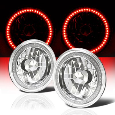 Chevy C10 Pickup 1967-1979 Red SMD LED Sealed Beam Headlight Conversion