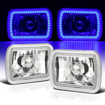 Dodge Aries 1981-1989 Blue SMD LED Sealed Beam Headlight Conversion