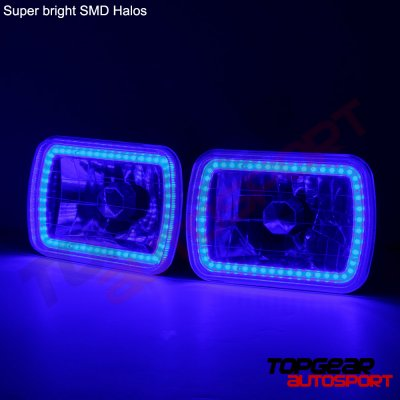 1994 GMC Safari Blue SMD LED Sealed Beam Headlight Conversion