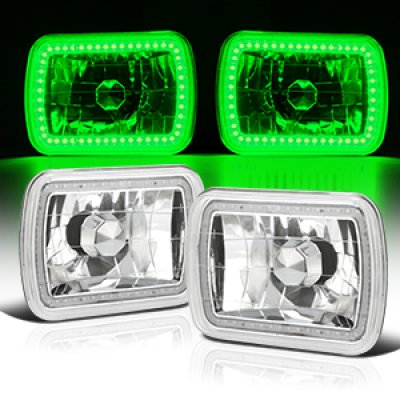 Jeep Wrangler 1987-1995 Green SMD LED Sealed Beam Headlight Conversion