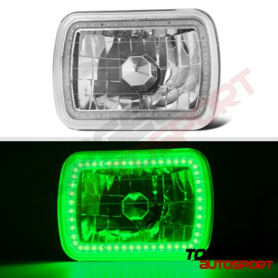 Dodge Aries 1981-1989 Green SMD LED Sealed Beam Headlight Conversion