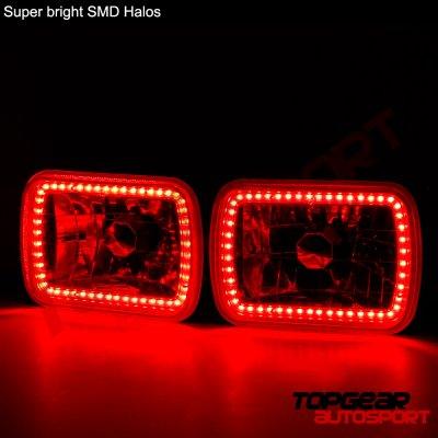 GMC Safari 1986-2004 Red SMD LED Sealed Beam Headlight Conversion
