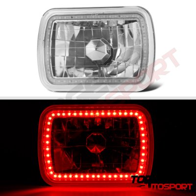 Plymouth Reliant 1981-1989 Red SMD LED Sealed Beam Headlight Conversion
