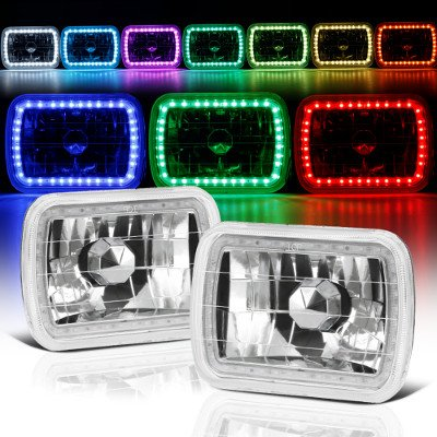 GMC Sierra 1988-1998 Color SMD LED Sealed Beam Headlight Conversion Remote