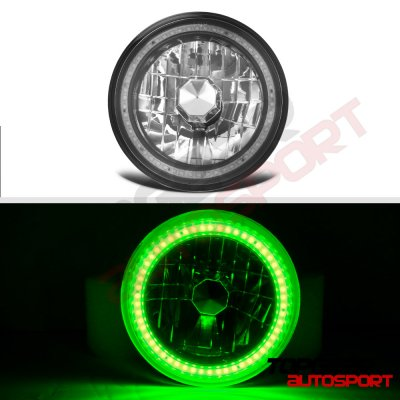 Mazda Miata 1990-1997 Green SMD LED Black Chrome Sealed Beam Headlight Conversion