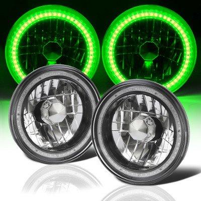 Mazda RX7 1978-1985 Green SMD LED Black Chrome Sealed Beam Headlight Conversion