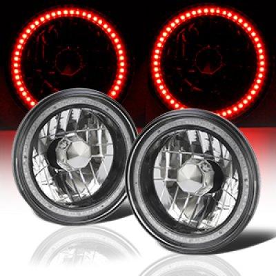 Porsche 911 1969-1986 Red SMD LED Black Chrome Sealed Beam Headlight Conversion