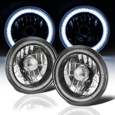 1974 Dodge Dart SMD LED Black Chrome Sealed Beam Headlight Conversion