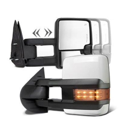 GMC Yukon XL Denali 2007-2014 White Towing Mirrors LED Signal Lights Power Heated