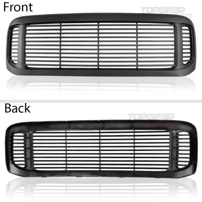 Ford F350 Super Duty 1999-2004 Black Grille and Headlights Set