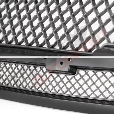 Chevy Silverado 1500 2003-2005 Black Gray Grille and Headlights Set