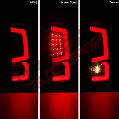 GMC Sierra 2500HD 2015-2018 Custom LED Tail Lights Black ...
