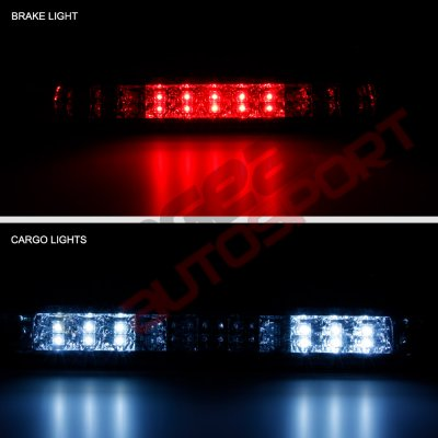 Chevy Colorado 2004-2012 Chrome Full LED Third Brake Light Cargo Light