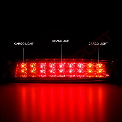 Dodge Ram 2009-2018 Red Full LED Third Brake Light Cargo Light