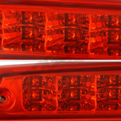 2000 Dodge Ram Red Full LED Third Brake Light Cargo Light