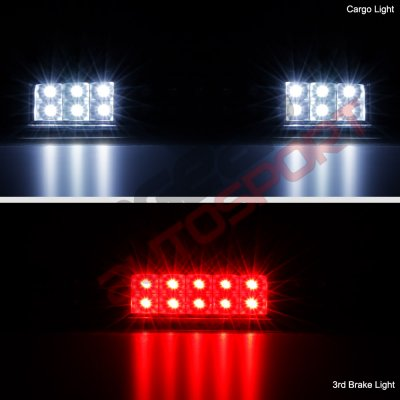 Ford F150 2004-2008 Black Smoked Full LED Third Brake Light Cargo Light