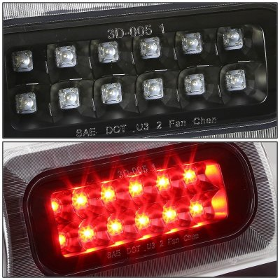 1996 Chevy S10 Regular Cab Black Full LED Third Brake Light