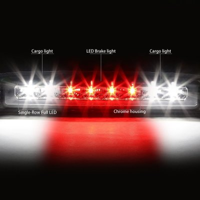 Dodge Dakota 1997-2010 Chrome Full LED Third Brake Light Cargo Light