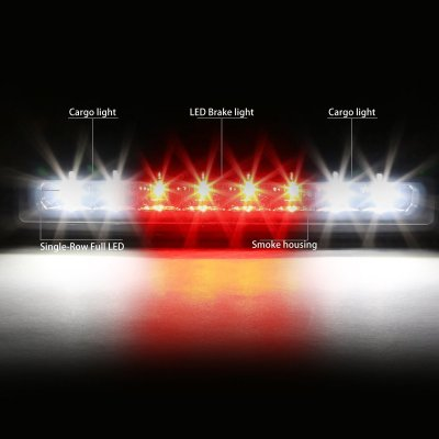 Dodge Dakota 1997-2010 Smoked Full LED Third Brake Light Cargo Light