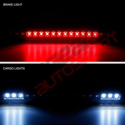 Chevy 1500 Pickup 1988-1998 Black Smoked Full LED Third Brake Light Cargo Light