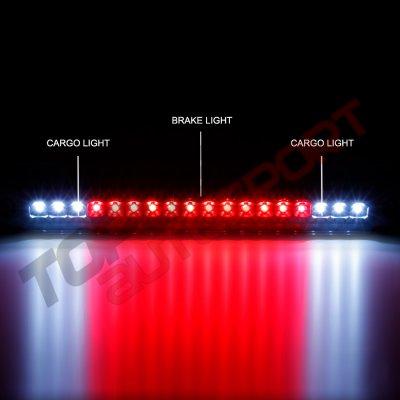 Chevy Silverado 1988-1998 Black Smoked Full LED Third Brake Light Cargo Light