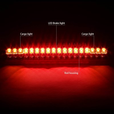 Chevy Silverado 1988-1998 Red Full LED Third Brake Light Cargo Light